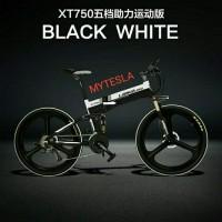 SEPEDA LISTRIK LIPAT LANKELEISI XT750 ELITE -Black/White