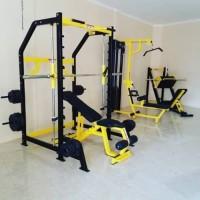 Alat Fitness Smith Machine plus bangku adjustable