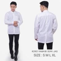 Baju Koko Habaib | Baju Koko Polos Putih |Baju Muslim Pria|