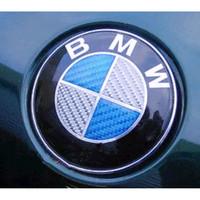 Emblem BMW 82mm Kap Mesin Bagasi Carbon Biru Putih 1 Piece