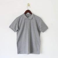 Kaos POLO Shirt Polos Baju Wangki Berkerah Abu Misty