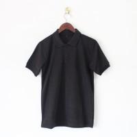 Baju Polo Shirt Polos Kaos Wangki Berkerah warna Hitam