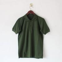 Kaos POLO Shirt Polos Baju Wangki Berkerah Hijau Army