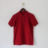 Kaos POLO Shirt Polos Baju Wangki Berkerah Merah
