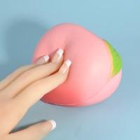 Mainan Squishy Model Slow-Rising Bahan PU Elastis Bentuk Buah Peach
