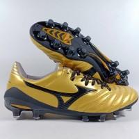 Sepatu Bola MIZUNO MORELIA NEO II GOLD BLACK FG Replika Impor