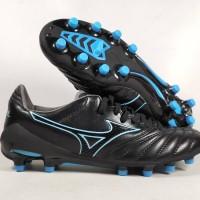 Sepatu Bola Mizuno Morelia Neo II Black Blue Atoll MD Replika Impor