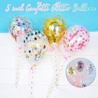 Balon Glitter Mini untuk Dekorasi Kue