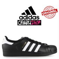 Sepatu ADIDAS Superstar Original Terbaru Sneakers Pria Wanita Hitam