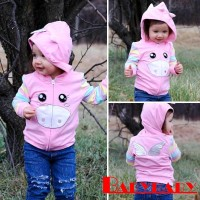 Yya-jaket Hoodie Tipis Motif Garis untuk Newborn / Bayi Perempuan
