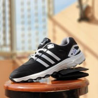 sepatu sport adidas adinova hitam abu - sneakers kampus pria - sepat