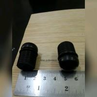 TARIKAN LACI LEMARI - HANDLE KNOB BULAT PLASTIK HITAM ULIR