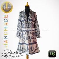 Coat Batik Wanita Tenun Troso Jepara Handmade Motif Sumba