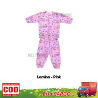 Tokusen Setelan Baju Bayi Lengan Panjang / Baju Bayi Newborn - LAMINA-PINK