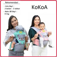 Gendongan Bayi Depan Hipseat Baby Joy (ORIGINAL) Kokoa Series