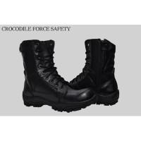 Sepatu Boots Pria PDL Safety Delta Force Full Black Kuat dan Ringan