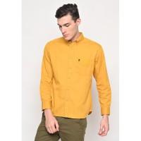 Skelly Kemeja Kasual Lengan Panjang Pria Thom Twill Shirts Kuning