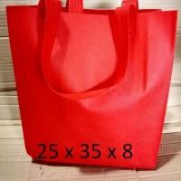 uk 25x35 tas kain   spunbond   tas souvenir  tas bahan polos