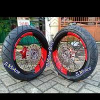 Paketan Velg SuperMoto Super Moto Honda CRF 150 L Plus Ban IRC