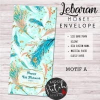 Amplop Kondangan Angpao Wedding Lebaran Custom Nama feather merak 1