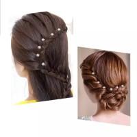 Hairpin Bunga Mutiara Kristal Aksesoris Sanggul Pesta Pengantin H42