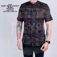 Baju Kemeja Songket Batik Cowok Lengan Pendek Kemeja Formal