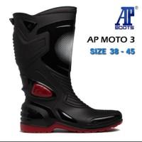 Sepatu Karet PVC Anti tembus Air Banjir/hujan AP BOOTS MOTO 3