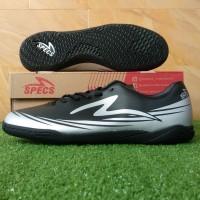 Specs Sparta IN (Sepatu Futsal) - Black/Silver