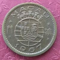 koin asing kuno macau 10 avos TP017