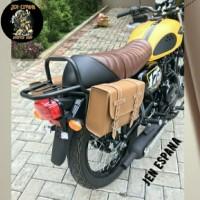 Back rack W175 plus side bag kawasaki W175
