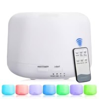 Ultrasonic Aroma Diffuser Humidifier 7 Warna LED 300ml+remote