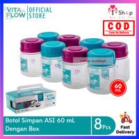 8 Pcs Vita Flow Botol ASI 60 mL / Botol Penyimpan MPASI Bukan Kaca