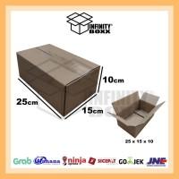 kardus box packaging packing 25x15x10 cm
