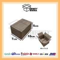 kardus box luar polos packaging packing 10x7x5 cm