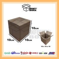 kardus box luar polos packaging packing 10x10x10 cm
