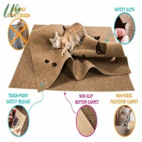 Pet Cat Litter Pad Mat Anti-slip Durable Claw Scratch Play Toy for