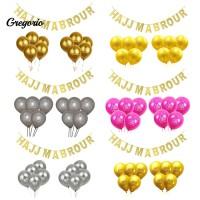 11Pcs Balon dengan Glitter Model hak-mabrour untuk Dekorasi Festival