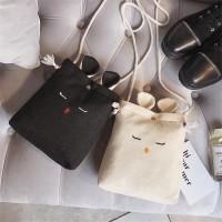 Tas Handbag / Selempang Bahan Kanvas Motif Kartun Kelinci untuk