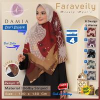 Jilbab Segi Empat Syari Jumbo Size Faraveily Motif 4 by Damia Scarf