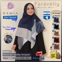 Jilbab Segi Empat Syari Jumbo Size Faraveily Motif 1 by Damia Scarf