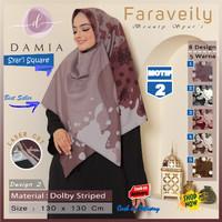 Jilbab Segi Empat Syari Jumbo Size Faraveily Motif 2 by Damia Scarf