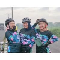 Kaos Baju Jersey jersy sepeda mama gowes cewek wanita mtb seli