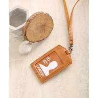 Name Tag ID Card Holder Patuk Kalung Premium ID Badge Leather Clip