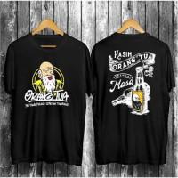 Baju Kaos Pria Pejuang Orang Tua Lengan Pendek Catoon Combed 30s Black