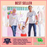Jual Baju Kaos Couple Keluarga | Kaos Family Ultah Unicorn NW 206