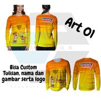 2s5   Baj u Kaos Jersey Lengan Panjang PON XX Papua 2020 Torang Bisa! - Art 01 PRIA, S