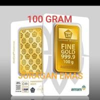 100 GR (GRAM) PRESS LOGAM MULIA/LM/EMAS BATANGAN ANTAM SERTIFIKAT BARU