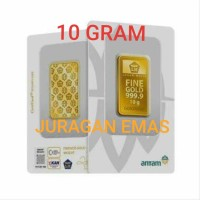 10 GR (GRAM) LOGAM MULIA/LM/EMAS BATANGAN ANTAM SERTIFIKAT BARU