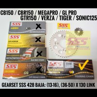 GIR SET SONIC 150 R / SUPRA GTR 150 BAJA 428 SSS RO ( 0-RING SEAL )