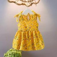dress mini anak import, gaun anak cantik, dress anak motif kembang